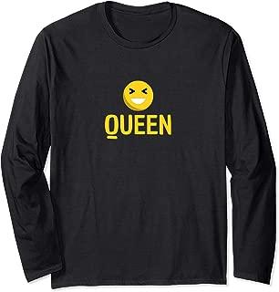 Fun Smiley Face Queen Emote Smile Long Sleeve T-Shirt