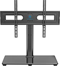 Best PERLESMITH Universal TV Stand Table Top TV Base for 37 to 70 inch LCD LED OLED 4K Flat Screen TVs - Height Adjustable TV Mount Stand with Tempered Glass Base, VESA 600x400mm, Holds up to 99lbs Review