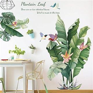 Muursticker plant tropische verlaat muursticker grote bladeren groene muursticker woonkamer slaapkamer hal wanddecoratie (C)
