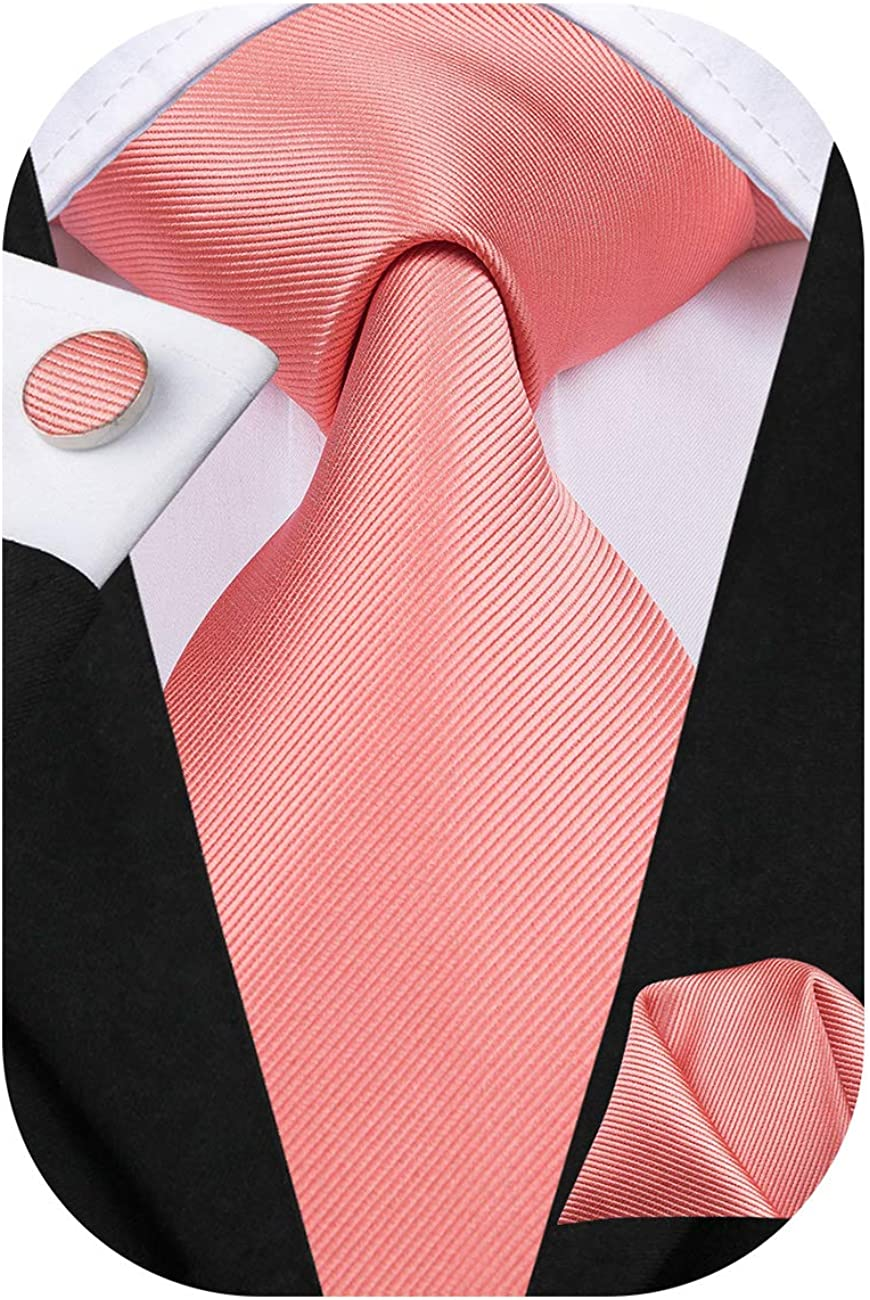 Dubulle Mens Paisely Silk Tie for Men Necktie and Pocket Square Set