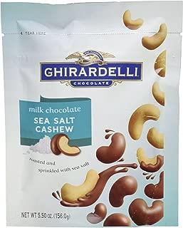 Ghirardelli, Milk Chocolate Covered Sea Salt Cashew, 5.5oz Bag (Pack of 2)