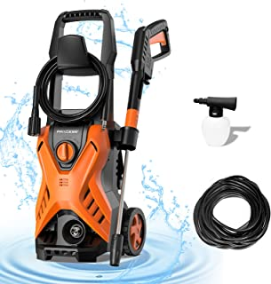 PAXCESS Electric Pressure Power Washer 1500W 420L/H Portable Jet Washer with Adjustable Spray Nozzle, Foam Cannon, IPX5 Ca...