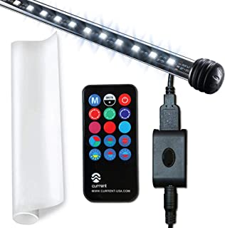 CURRENT USA Serene Aquarium Background Lighting Kit with Color Changing LED Light, Static Cling Background Film and Wireless Remote Control