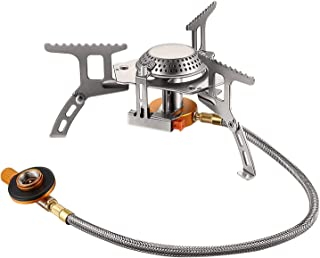 Terra Hiker 3500 W Camping Gas Stove, Backpack Stove, with Convenient Piezo Ignition, Durable, Portable Burner with Carryi...