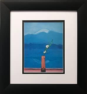 David Hockney Mt. Fuji Flowers Newly Custom Framed Art Print Framed Size Approx. 14.5