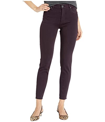 KUT from the Kloth Donna High-Rise Ankle Skinny Raw Hem in Eggplant (Eggplant) Women