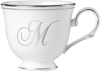 Lenox Federal Platinum Script Monogram Dinnerware Teacup, M