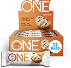 ONE Protein Bars, Butter Pecan, Gluten Free Protein Bars with 20g Protein and only 1g Sugar, Guilt-Free Snacking for High ...