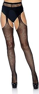 Leg Avenue Women's Size Plus Fishnet Suspender Pantyhose