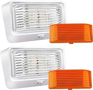 BlueFire Super Bright LED RV Porch Light RV Exterior Lights Porch Utility Light 12V Replacment Light with ON/Off Switch, C...