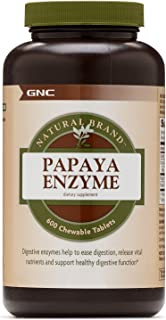 GNC Natural Brand Papaya Enzyme, 600 Tablets, Supports Healthy Digestive Function
