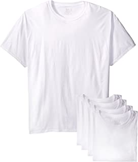 Fruit of the Loom Men's Stay Tucked Crew T-Shirt (White, XX-Large Tall) 6 Pack