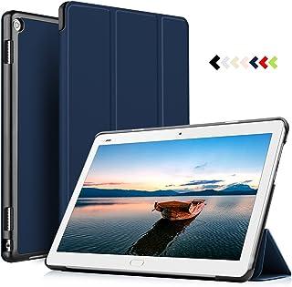 ELTD Funda Carcasa para Huawei MediaPad M3 Lite 10, Ultra Delgado Silm Stand Función Smart Fundas Duras Cover Case para Huawei MediaPad M3 Lite 10 Tableta, (Azul)