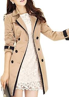【ノーブランド品】美ラインフレアトレンチコート レディース 大きいサイズ コート 春 スプリングコート ロング丈 レディース コート