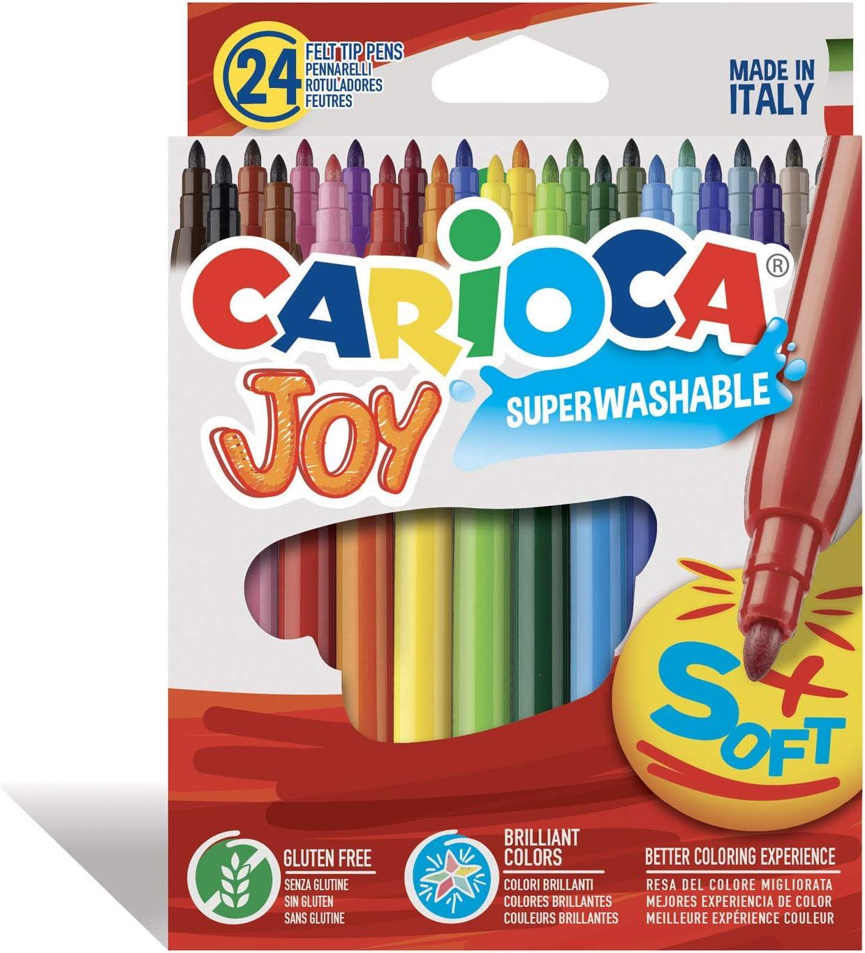Carioca Rotuladores Punta Fina Joy - 24 Uds., Multicolor