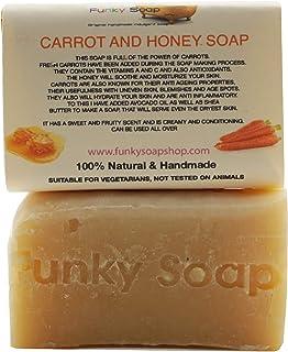 1 piece Carrot & Honey Soap 100% Natural Handmade aprox.120g
