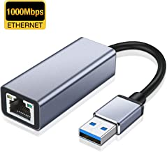 USB to Ethernet Adapter, Highwings USB 3.0 Network Adapter, RJ45 to 10/100 /1000 Mbps Gigabit Ethernet Adapter LAN Adapter Supports Nintendo Switch,Windows 10, 8.1, Mac OS, Surface Pro