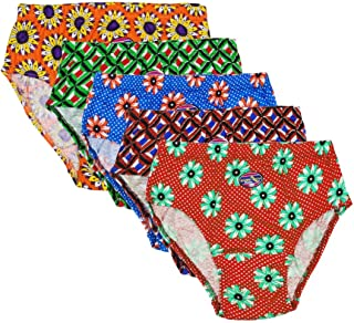 Rich Touch Womens Hipsters/Briefs 100% Cotton Ladies Printed Panties Under Wear Inner Elastic Combo Offer Pack of 5 Pc (Color May Vary)