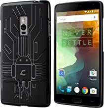 OnePlus 2 Case, Cruzerlite Bugdroid Circuit Case Compatible for OnePlus 2 / OnePlus Two - Retail Packaging - Black