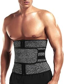 مربی کمر کمربند اصلاح کننده کمربند نئوپرن SHAPERIN ، مربی کمر تمرین مردان برای کاهش وزن با کمربندهای دوتایی