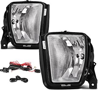 AUTOSAVER88 Factory Style Fog Lights For Dodge Ram 1500 2013 2014 2015 2016 2017 (Clear Lens with Bulbs & Wiring Harness)