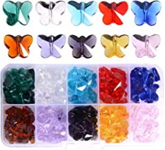 *3 FOR 2* 50 x Silver Sparkle Butterfly Shape 13mm Beautiful Quality Pony Beads