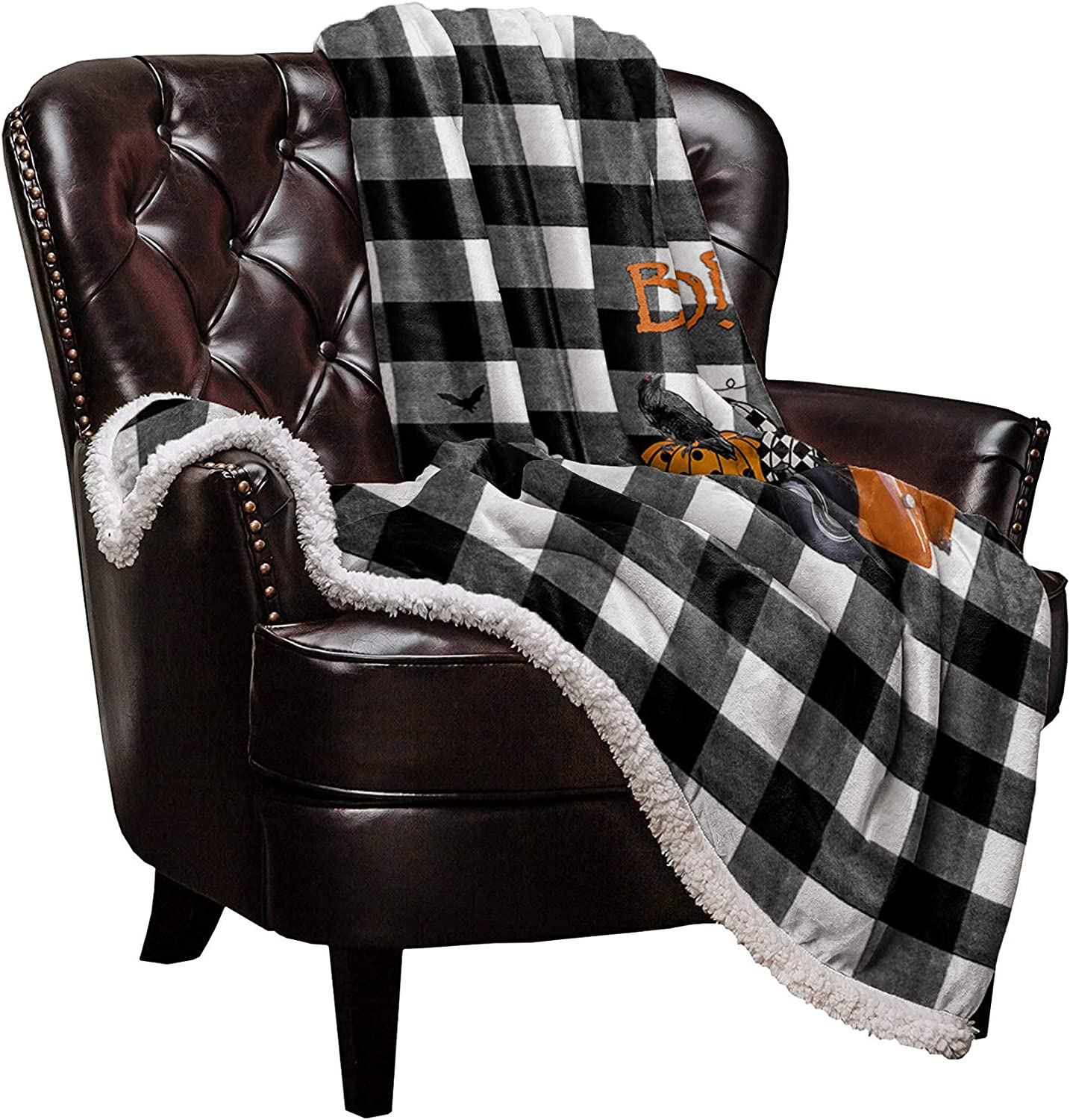 Sherpa Fleece Special price Throw Blanket Cozy Soft Warm Blankets Hallowee ! Super beauty product restock quality top! Bed