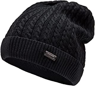 Beanies for Small Head Cable Knit Beanie Winter Hats for Women Skull Caps for Ladies (Grey)