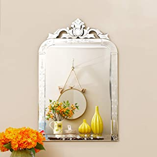KOHROS Wall Mounted Squared Mirror, Venetian Mirror Decor for The Living Room, Bathroom, Bedroom (W 25