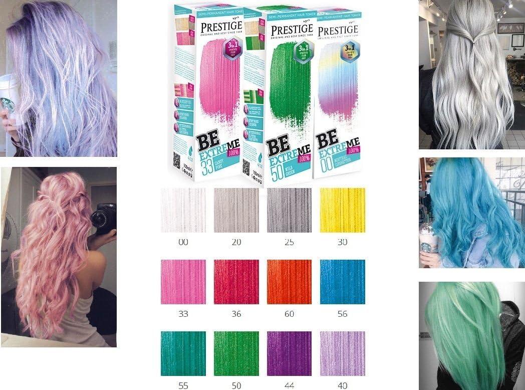 Be Extreme Tóner Semi Permanente para Pelo, Color 40 Violeta - Sin Amoniaco, Sin Parabenos y PPD