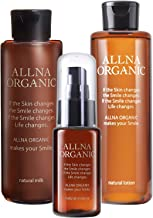 Allna Organic Natural Lotion & Natural Milk & Natural Essence Skin Care Set, Additive-Free, Synthetic Coloring & Perfume-Free, 3 Types of Collagen + 4 Hyaluronic Acids + 4 Types of Vitamin C + Ceramic Compound, 6.7, 5.0, 1.5 fl oz (200, 150, 4