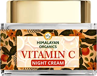 Himalayan Organics Vitamin C Night Cream with Hyaluronic Acid | Anti Pigmentation & Skin Brightening | 50ml
