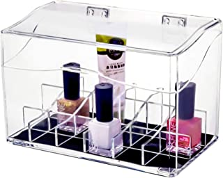 DecorRack Acrylic Makeup Organizer Cosmetic Storage Clear Compartment Display for Beauty Accessories Shatter Resistant Pla...