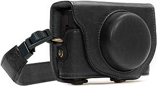 MegaGear MG588 Sony Cyber-shot DSC-RX100 VI, DSC-RX100 V, DSC-RX100 IV Ever Ready läderkamerafodral med rem – svart