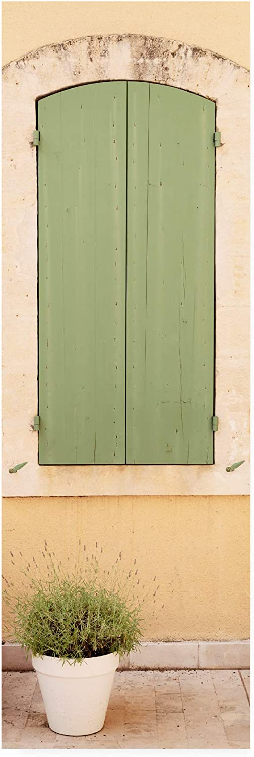 Trademark Fine Art PH01559C824GG France 2 Provencal Green Window by Philippe Hugonnard, 8x24