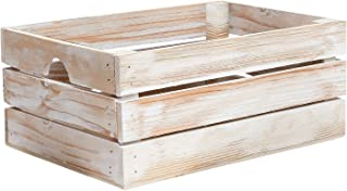 At Home on Main Handmade Rustic Crates (Medium) (White)