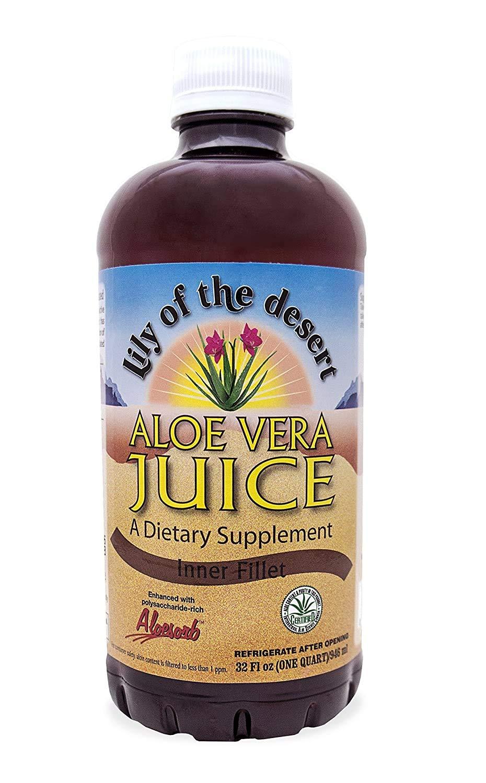 Lily of the Desert Aloe Vera Juice 32 oz (Packs of 2) : Health & Household