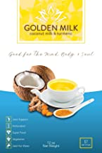Golden Milk, 57 Servings- 12 Ounce, Turmeric Curcumin Coconut Milk With Black Pepper, Delicious Superfood Beverage, Coffee Creamer or Smoothie Mix, Vegetarian