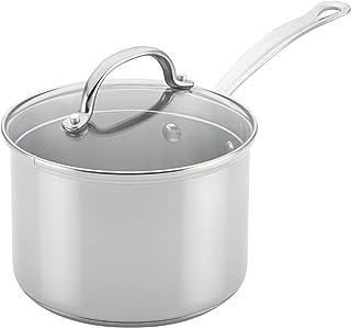 Farberware Millennium Stainless Steel Sauce Pan/Saucepan with Lid, 3 Quart, Silver