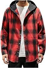 Overdose Blusa Superior De Otoño para Hombre Camisa Casual De Manga Larga con Estampado De Cuadros Escoceses Sudadera Hombre Basquetbol Gym Sudadera Hombre Oferta Adolescentes