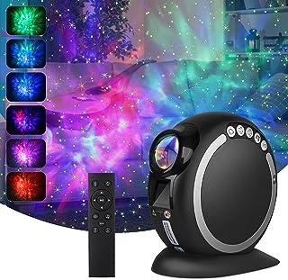 چراغ پروژکتور TRUDIN LED ، پروژکتور ستاره ای با سحابی ، باتری 2400 میلی آمپر ساعتی ، تایمر ، کنترل از راه دور و بلندگوی موسیقی بلوتوث Starlight برای کودکان بزرگسال ، هدایای کریسمس دکور اتاق خواب