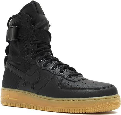 Nike Air Force 1 SF Special Field schwarz Gum - schwarz schwarz-Gum Light braun Trainer