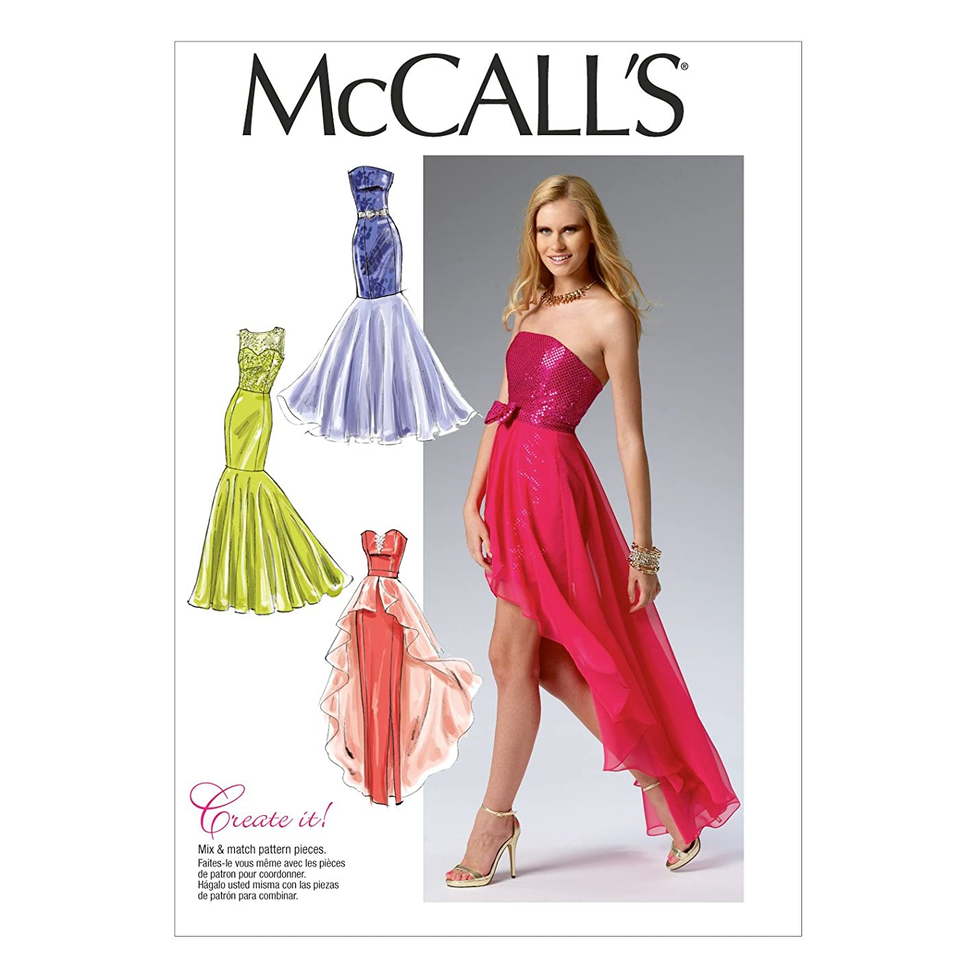 McCall Pattern Company M6838 Misses' Dress Sewing Template, Size E5