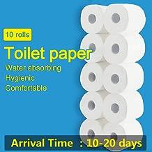 Premium White smooth Household 3-Ply Toilet Paper,B97(10 rolls)