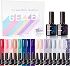 Gellen Gel Nail Polish Kit 16 Colors With Top Base Coat – Spring Summer Collection..