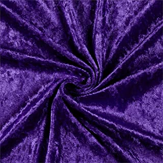Ben Textiles Stretch Panne Velvet Velour Purple Fabric By The Yard