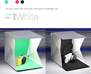Mini Folding Portable Photo Light Box Foldable 40 led Lamps Studio Shooting Tent with 6 backdrops-9.5 inches