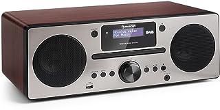 AUNA Harvard Equipo de música - Reproductor de CD - Receptor Dab/Dab+ - FM - Bluetooth - USB - AUX - Memoria 80 emisoras -...