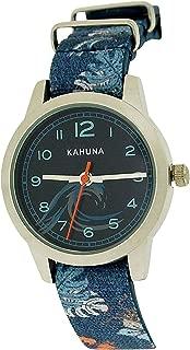 Kahuna Boys Blue Surf Kids Watch, Key Ring and Wallet Gift Set AKKS-0005M
