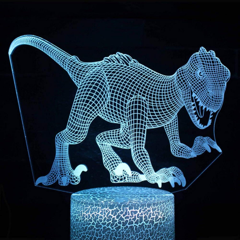 Zonxn Creative Touch 3D Led USB Tyrannosaurus Modeling Night Light colorful Table Lamp Home Decoration Dinosaur Sleeping Lighting Gift